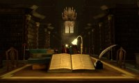 Hogwarts Library Studying