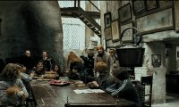Harry and Hagrid have a meal at the Leaky Cauldron