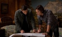 Researching late at night with the Winchesters